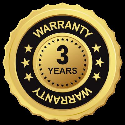 Bach hearing aids 3-year warranty seal