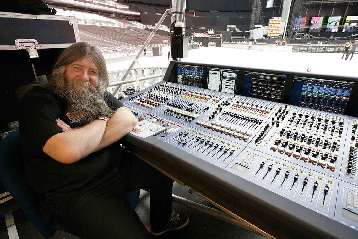 Sound Engineer wearing Bach Hearing Aids
