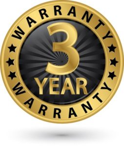 Bach 9 hearing aids have a three year warranty.