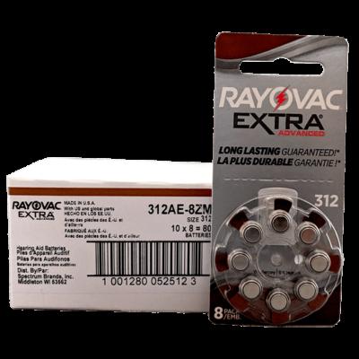 Rayovac 312 hearing aid batteries